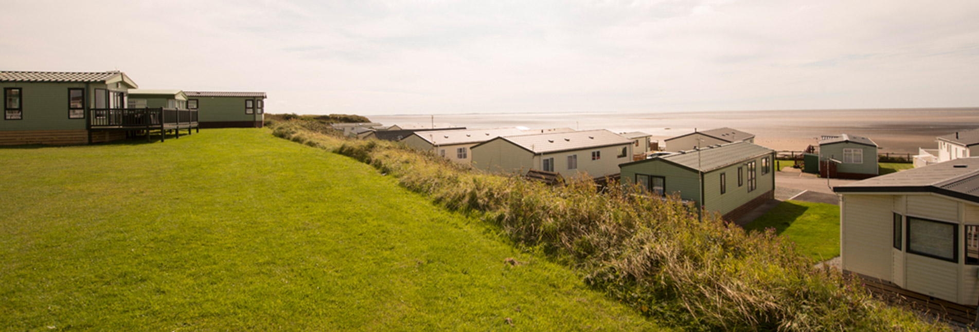 A holiday park in Lancashire overlooking the sea