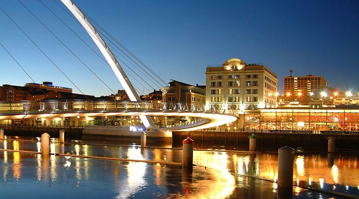 Millenium Bridge and Newcastle Quayside