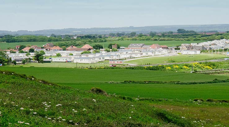 Cayton Bay Holiday Park and surrounding countryside