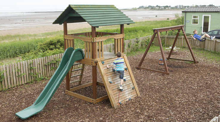 The outdoor adventure play area at Southerness