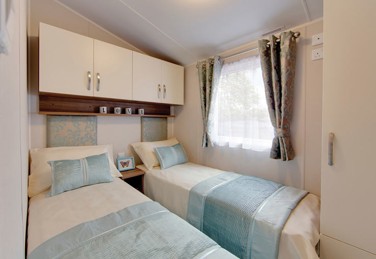 Brand new for 2018, this extra wide caravan features all the home comforts including a fully equipped kitchen as well as double glazing and central heating so everyone stays cosy. There's space for up to six, thanks to additional sleeping in the lounge and there's even an ensuite toilet.