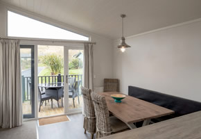 This luxurious 3 bed lodge is nestled in the private Croyde Burrows. With modern decor, double glazing, central heating, a washer dryer and dishwasher you'll feel right at home. Enjoy sunny evenings on the veranda with outdoor furniture plus two private parking spaces.